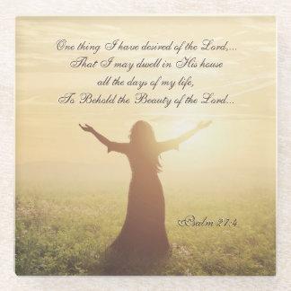 Posavasos De Vidrio Una cosa que he deseado del señor, 27:4 del salmo,