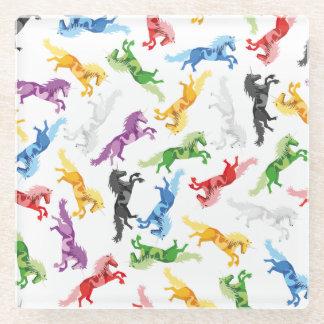 Posavasos De Vidrio Unicornio coloreado del modelo