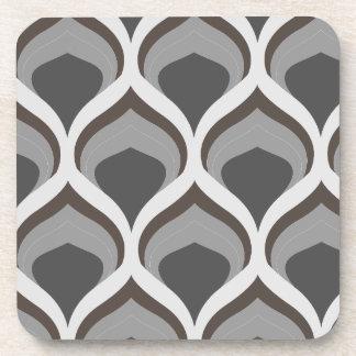 Posavasos descensos geométricos grises