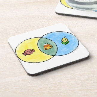 Posavasos Diagrama de Venn de las pastillas de caramelo