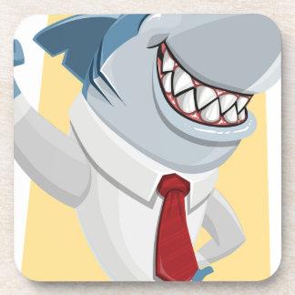 Posavasos dibujo animado del tiburón