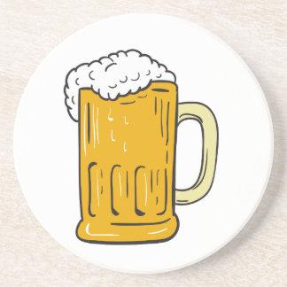 Posavasos Dibujo de la taza de cerveza