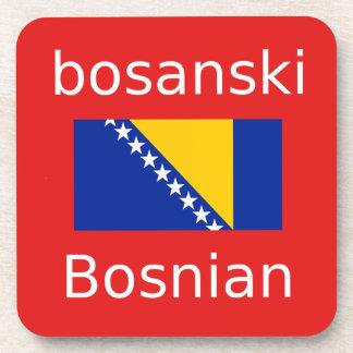 Posavasos Diseño bosnio de la lengua