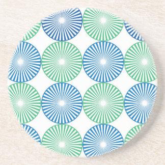 Posavasos Diseño circular azul y verde