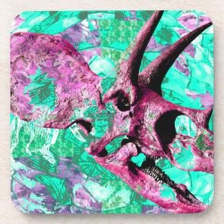 Posavasos Diseño de la impresión del cráneo del dinosaurio
