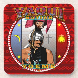 Posavasos Diseño del bailarín de los ciervos de Yaqui Yoeme