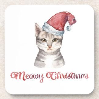 Posavasos Diseño del navidad de Meowy para los amantes del