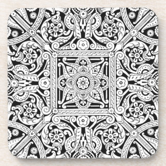 Posavasos Diseño estilizado del panel de techo, 1870