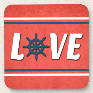 Posavasos Diseño náutico del amor