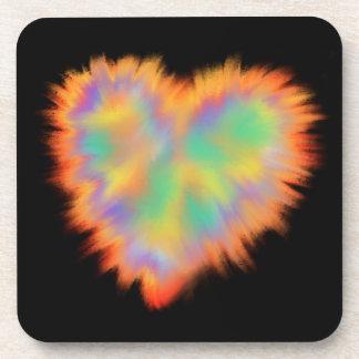 Posavasos Diseño psicodélico colorido del arte abstracto del