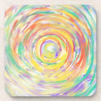 Posavasos Diseño psicodélico del arte abstracto del corazón