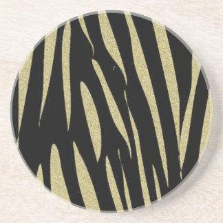 Posavasos Diseño salvaje del safari de la impresión de las