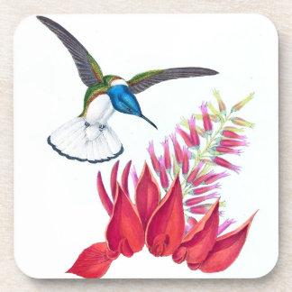Posavasos El animal de la fauna del pájaro del colibrí