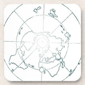 Posavasos El blanco Polo Norte AE traza