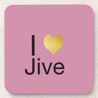 Posavasos El corazón elegante de I Jive juguetónamente