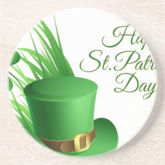 Posavasos El día de St Patrick feliz, santo irlandés del