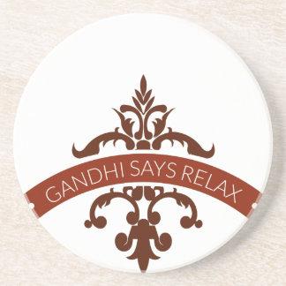 Posavasos el ghandi dice se relaja