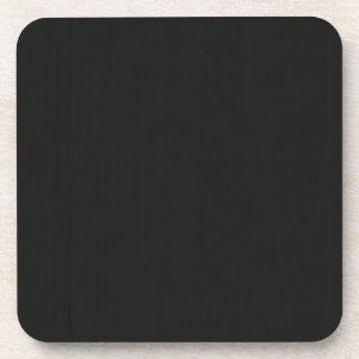 Posavasos El gris negro en blanco llano DIY añade la foto