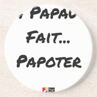 Posavasos El PAPADO HACE PARLOTEAR - Juegos de palabras