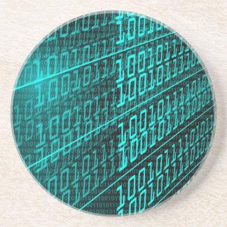 Posavasos ÉL programador programado del código binario del