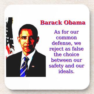Posavasos En cuanto a nuestra defensa común - Barack Obama
