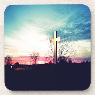 Posavasos En la cruz