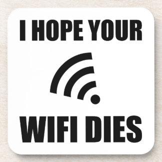 Posavasos Espere sus dados de Wifi