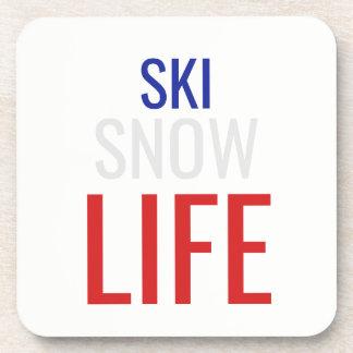 Posavasos Esquí, nieve, vida
