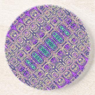 Posavasos Extracto colorido de las cuentas de cristal