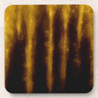 Posavasos Falsa pintura y purpurina del oro en negro