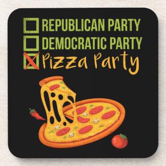 Posavasos Fiesta de la pizza - votación divertida de la
