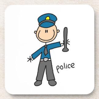 Posavasos Figura del palillo del oficial de policía