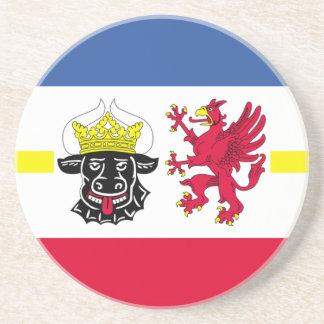 Posavasos Flag_of_Mecklenburg-Western_Pomerania_