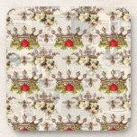 Posavasos Floral vintage con abejas