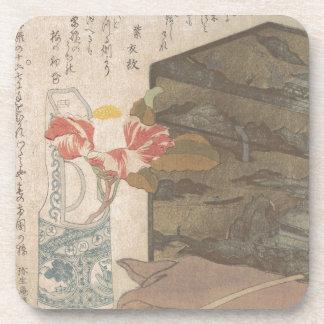 Posavasos Florero y caja de la laca - chino