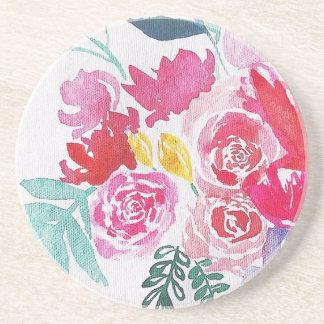 Posavasos Flores de la acuarela