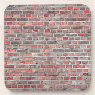 Posavasos fondo de la pared de ladrillo - piedra roja del