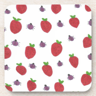 Posavasos Fresas y señora Bugs Fruity Pattern