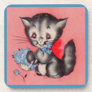 Posavasos gato dulce del gatito