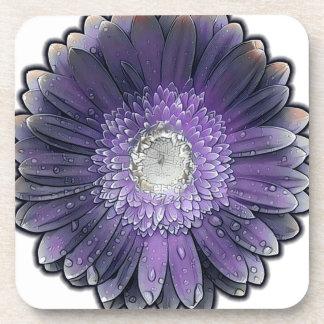 Posavasos Gerbera púrpura de la lluvia