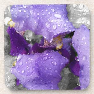 Posavasos gotas de agua en el iris