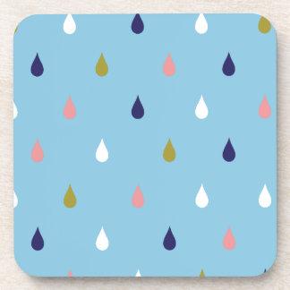 Posavasos Gotas de lluvia felices