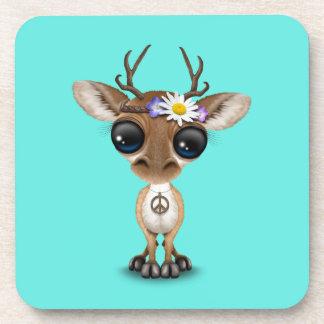 Posavasos Hippie lindo de los ciervos del bebé