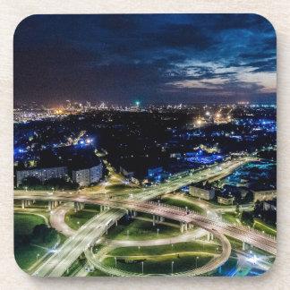 Posavasos Horizonte de la noche de Riga