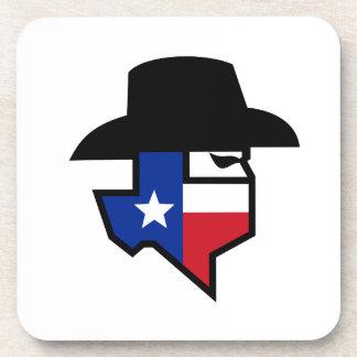 Posavasos Icono de la bandera de Tejas del bandido