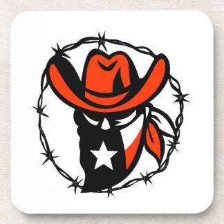 Posavasos Icono proscrito Texan del alambre de Barb de la