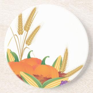 Posavasos Ilustracion de la cosecha de la caída
