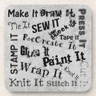 Posavasos Impresión de los artes de la tipografía de los