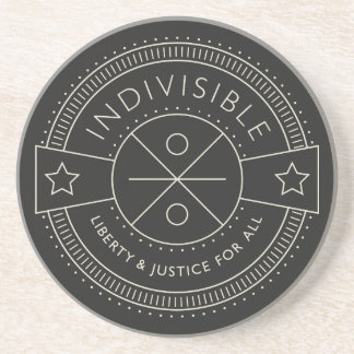 Posavasos Indivisible, con libertad y justicia para todos