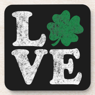 Posavasos Irlandés del trébol del AMOR del día de St Patrick